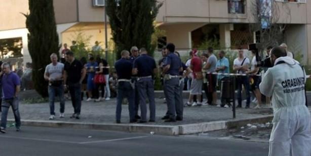 Efferata violenza in strada in un quartiere di Roma