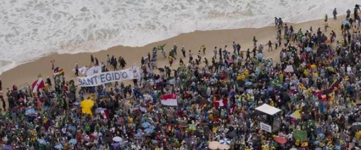 Gmg: una marea umana alla veglia sulla spiaggia di Copa Cabana