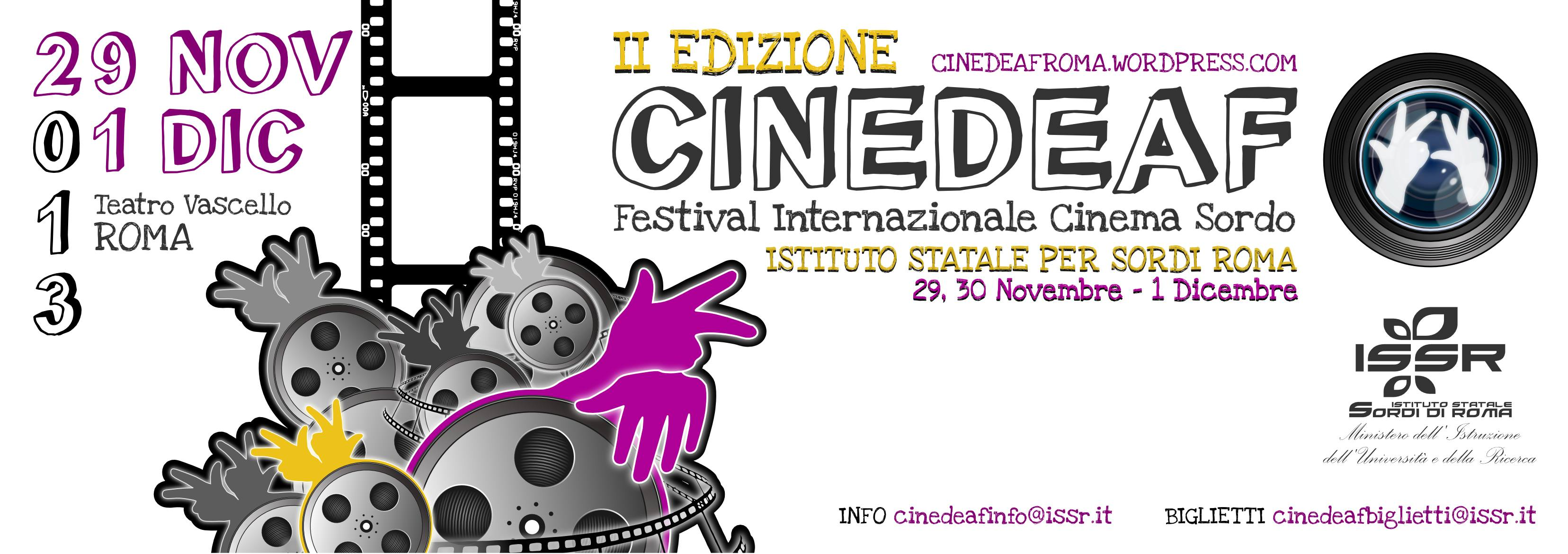 Roma, al via la seconda edizione del Festival del Cinema Sordo