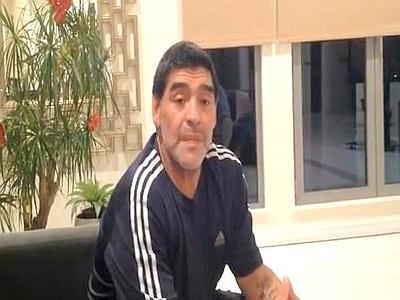 Video messaggio di Maradona: Sui giornali solo falsità