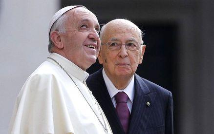 Papa Francesco in visita al Quirinale