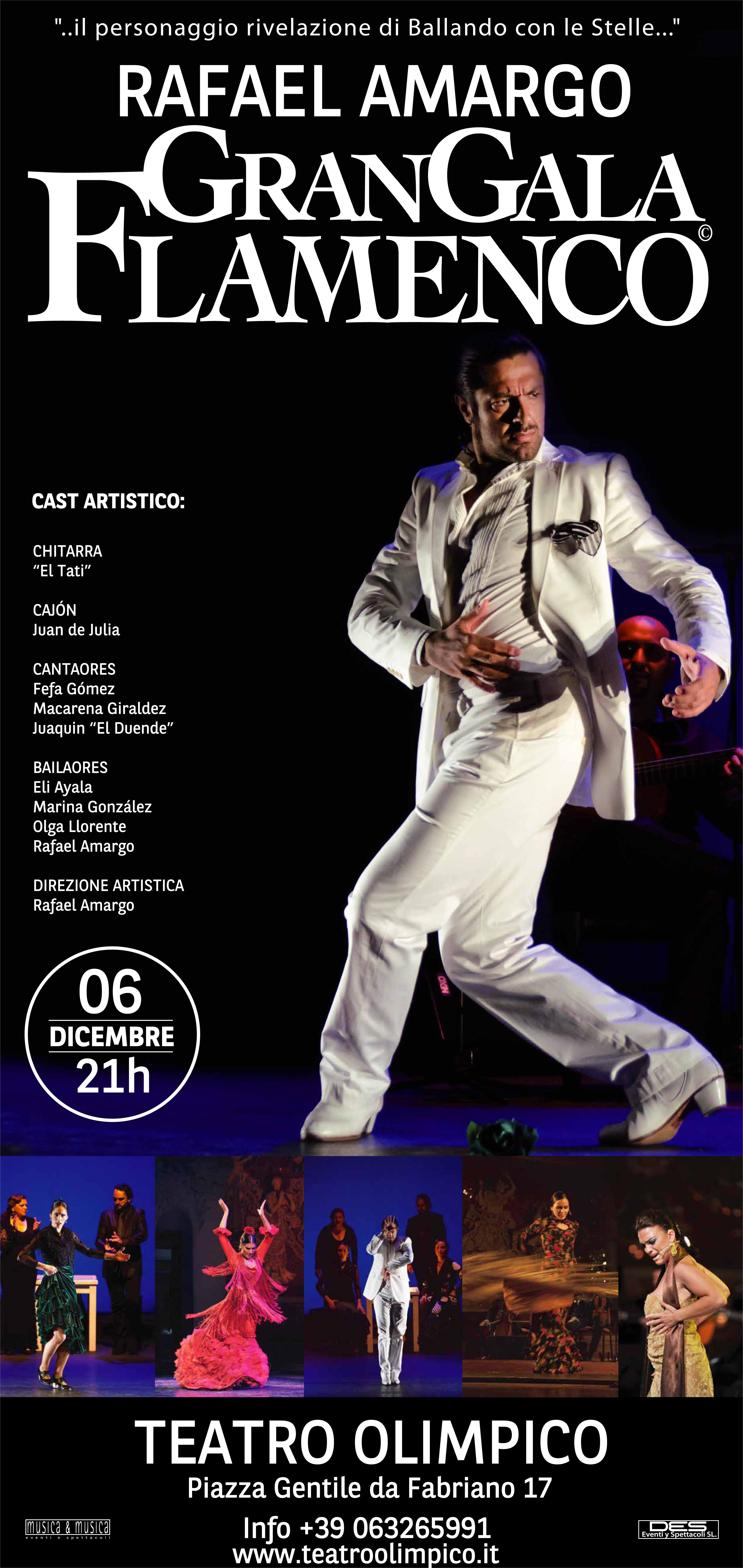 Flamenco, a Roma gran galà di Rafael Amargo