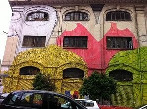 Street art nel quartiere Ostiense, a Roma