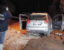 L'auto in cui è stato ucciso Femia