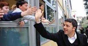 Renzi torna a scuola, ma da presidente del Consiglio