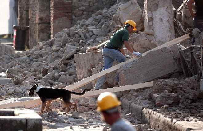 Pompei: Crolla la casa del Gladiatore
