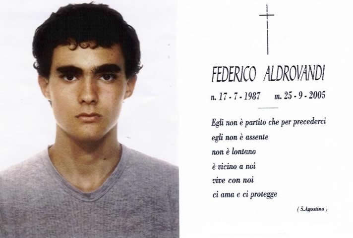 Sap plaude ad agenti colpevoli della morte di Federico Alibrandi