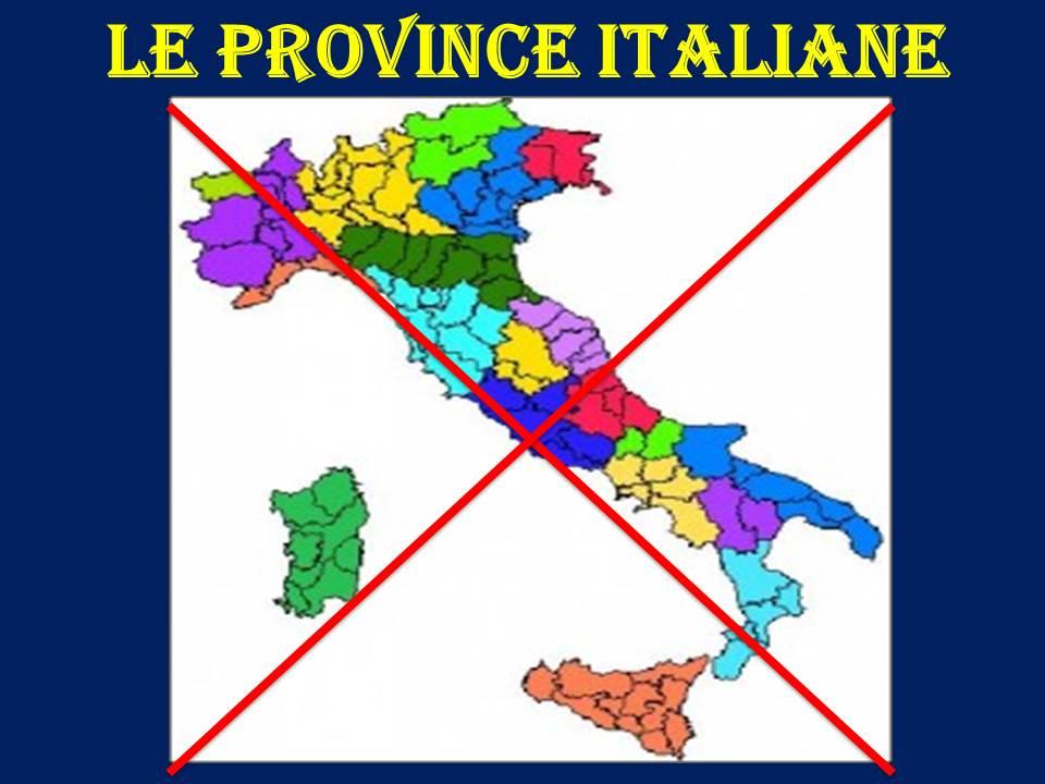Basta province. Nascono le città metropolitane