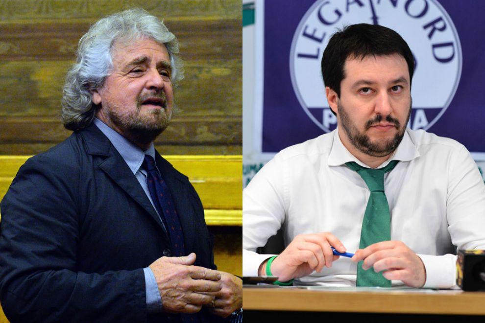 Grillo-Farage e Salvini-Le Pen: è a due facce il fronte antieuro