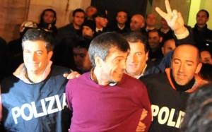 Antonio Iovine al momento dell'arresto