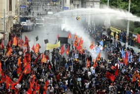 Mine Explosion protest in Istanbul