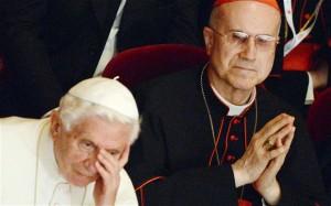Tarcisio Bertone con Benedetto XVI