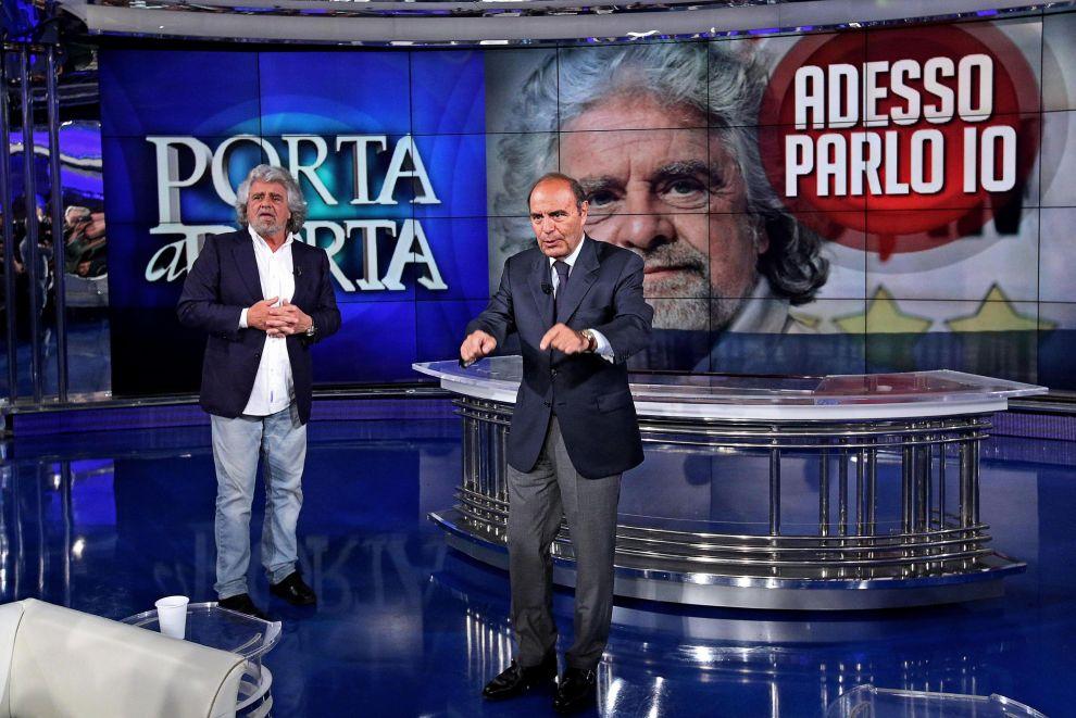 Grillo: da Vespa uno show