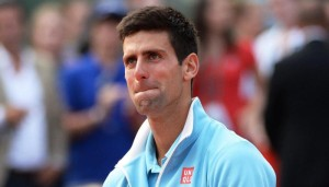 Djokovic in lacrime