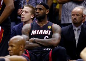 Un deluso LeBron James