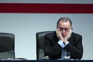 Un Giorgio Squinzi visibilmente preoccupato