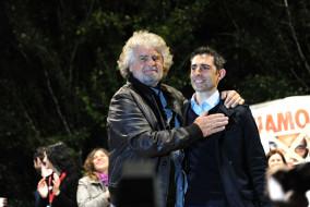 Beppe Grillo e Federico Pizzarotti