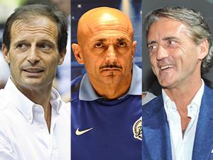 Massimiliano Allegri, Luciano Spalletti, Roberto Mancini