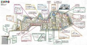 La cartina di Expo 2015