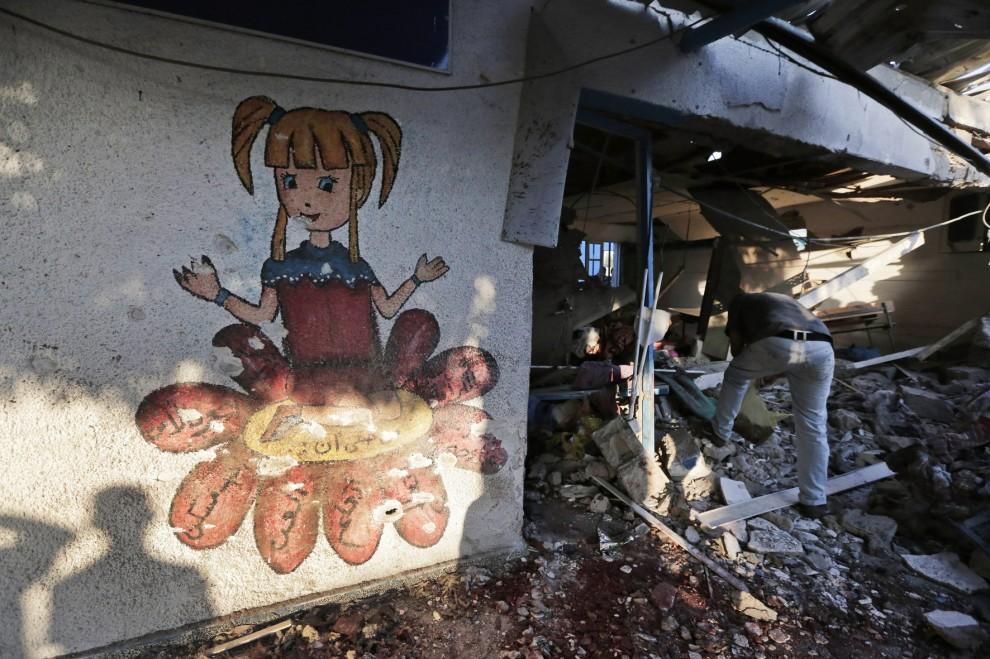 Gaza: colpita un'altra scuola dell'Onu a Jabaliya. 23 vittime
