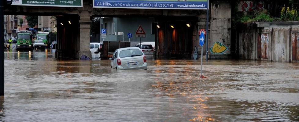 Milano sott'acqua. Nubifragi in tutto il Nord
