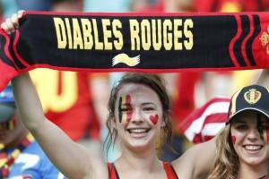 L'euforia di una tifosa belga: ne ha tutti i motivi