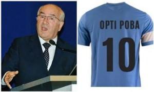 L'ironia del web si scatena: Tavecchio e la maglia di Opti Poba
