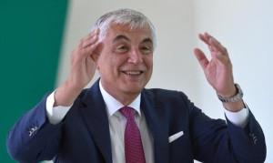 Un soddisfatto Gabriele Del Torchio, a.d. di Alitalia