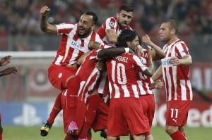 La gioia dell'Olympiacos