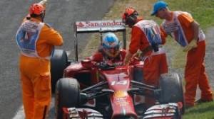 Il mesto ritiro di Alonso al 29° giro del GP di Monza