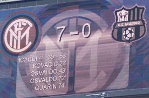 Il tabellone di S.Siro recita l'incredibile punteggio