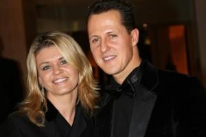 Schumi con la moglie, Corinna