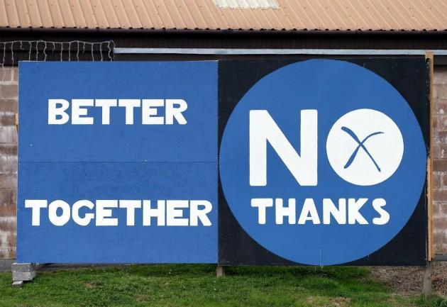 Vince il 'no', niente indipendenza per la Scozia