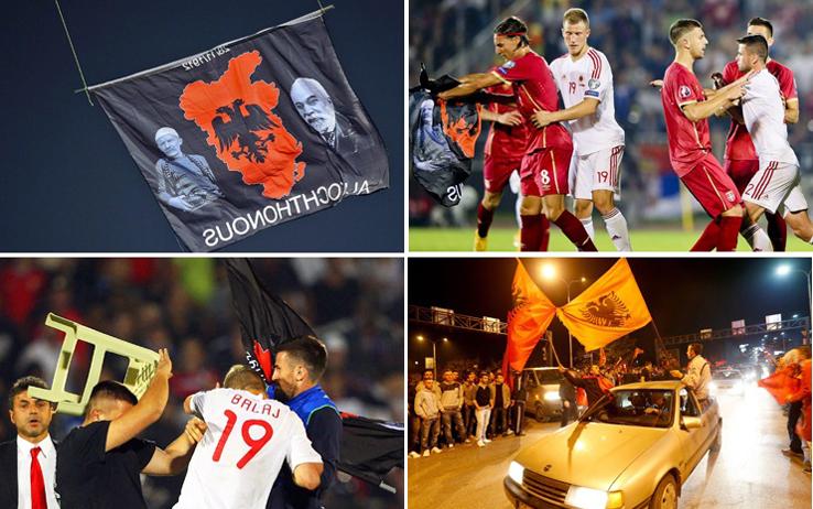 Serbia-Albania: calcio e politica, un mix esplosivo