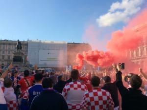 Invasione croata al centro di Milano