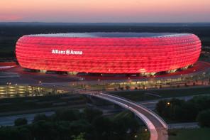 Una splendida veduta dell'Allianz Arena