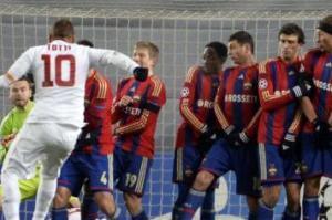 Il bolide di Totti per l'illusorio vantaggio giallorosso