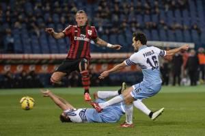 Il 3-1 di Parolo mentre Djordjevic, a terra, chiede il cambio