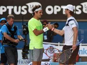 Anche Roger non può che congratularsi con il suo rivale