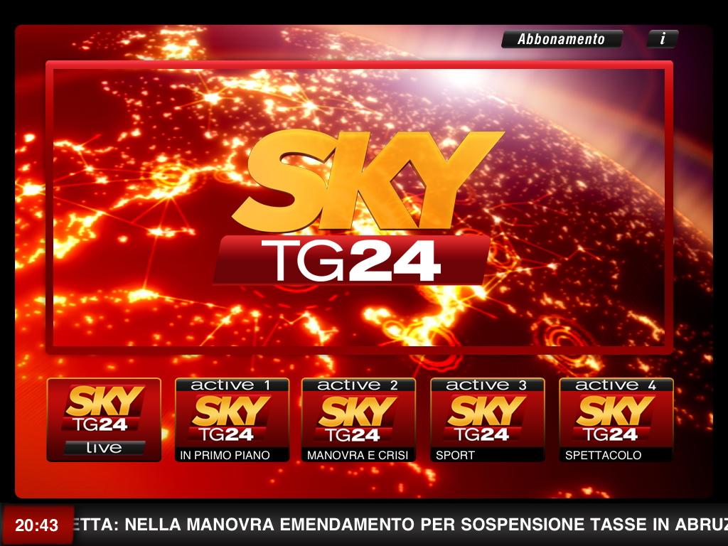 Sky Tg24 anche sul digitale terrestre