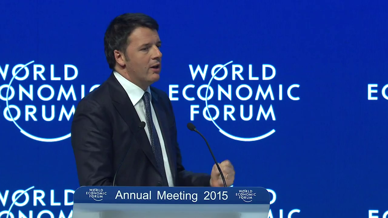 """Davos, Renzi """"Carpe diem, ovvero trasformare i rischi in opportunità"""""""
