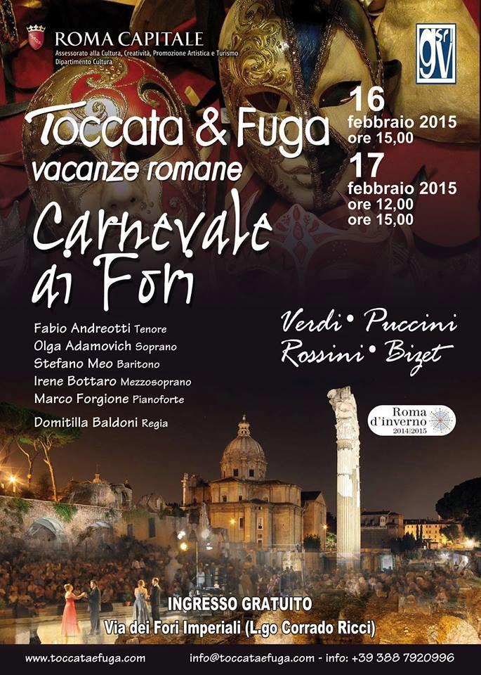 Roma, Carnevale lirico ai Fori Imperiali