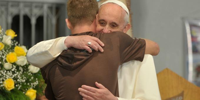 Papa Francesco si è fermato a Scampia
