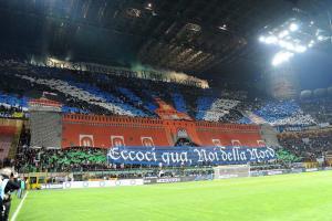 A Milano, invece, è stata festa. almeno sugli spalti