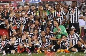 Festa bianconera con la Coppa