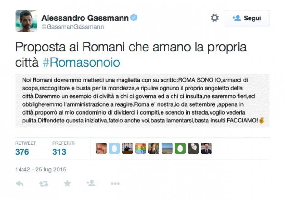 #Romasonoio, i cittadini si facciano spazzini