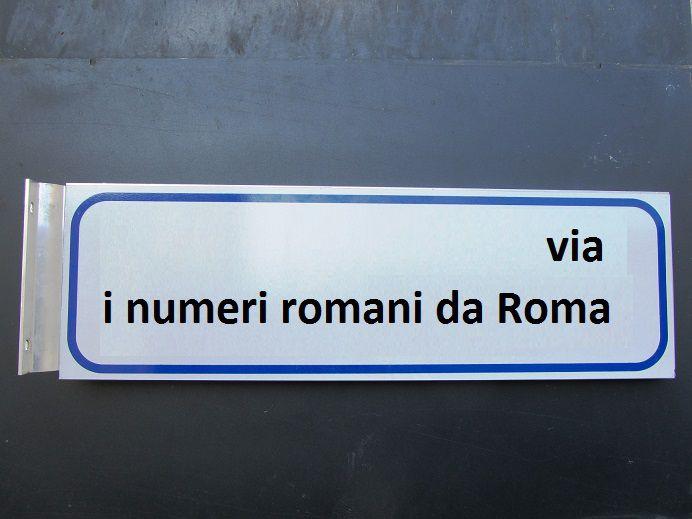 Via i numeri romani dalle targhe della Capitale