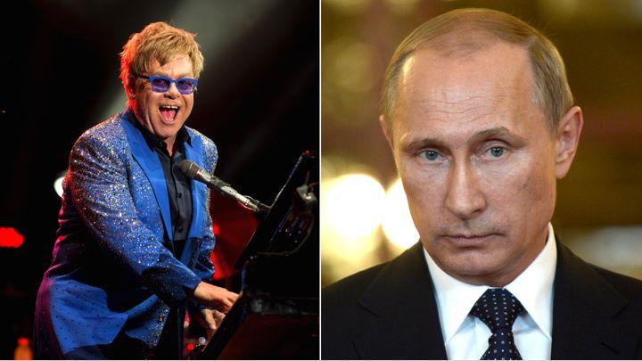 Elton John al telefono con Vladimir Putin