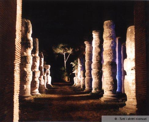 Il porto di Claudio e Traiano visto dal Tevere