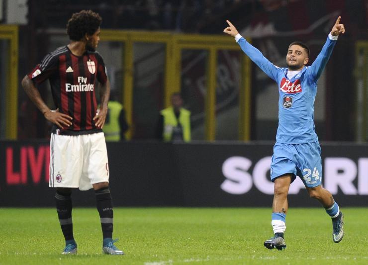 Insigne doppietta, per il Milan è l'inferno